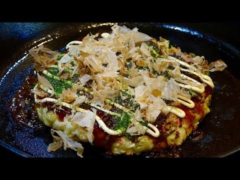 Okonomiyaki with Squid Recipe – Japanese Cooking 101