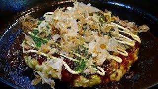Okonomiyaki with Squid Recipe - Japanese Cooking 101