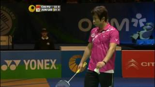 Cai Yun Fu Haifeng vs Jung Jae Sung  Lee Yong Dae   Highlights Final All England Open 2012