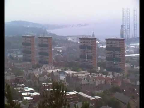 Alexander Street Hilltown Multis demolition. Dundee