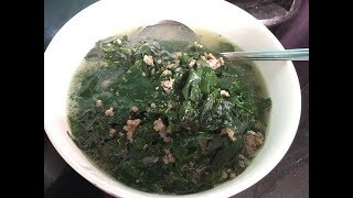 Cách Nấu Canh Rau Ngót Thịt Bằm   Phượng Phạm   Thiên đường ẩm thực