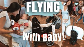 FLYING WITH A BABY | 3 MONTHS! BABY CARRY ON, WHAT YOU NEED, & TIPS
