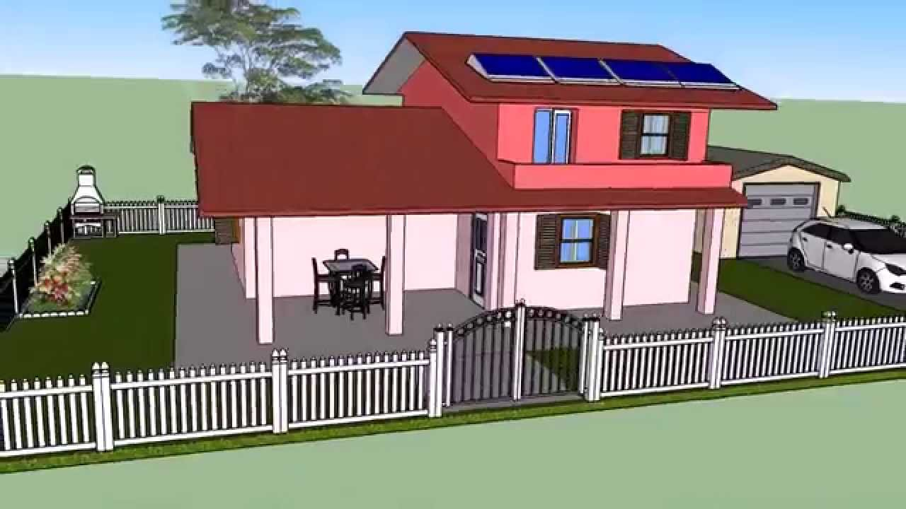 Casa prefabbricata a due piani med system youtube for Piani casa com