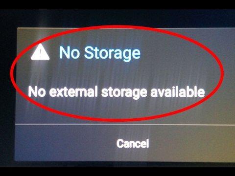 How To Fix No Storage-No External Storage Available Error In Android|Tablet