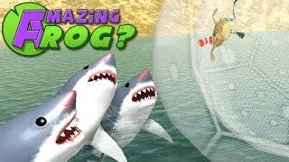 Amazing Frog - SHARKS VS ZORB - Part 32