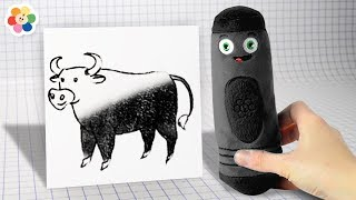 Giant Crayon Soft Toys Surprise | Drawing and Coloring Videos for Kids by Color Crew | BabyFirst