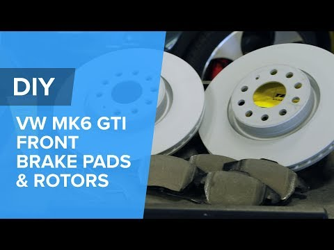 VW & Audi MK6 GTI Front Brake Disc Pads & Rotor Replacement DIY (Golf, Passat, EOS, TT, Rabbit, A3)