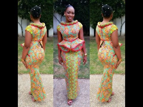 50 Creative Hot And Extraordinary Ankara Peplum Styles That Makes