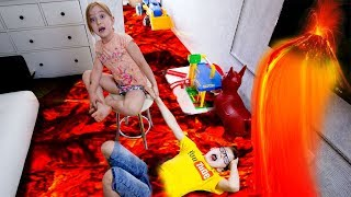 - ПОЛ это ЛАВА Челлендж Выживание в игре ROBLOX лава игра для детей в Роблокс убегаем от лавы