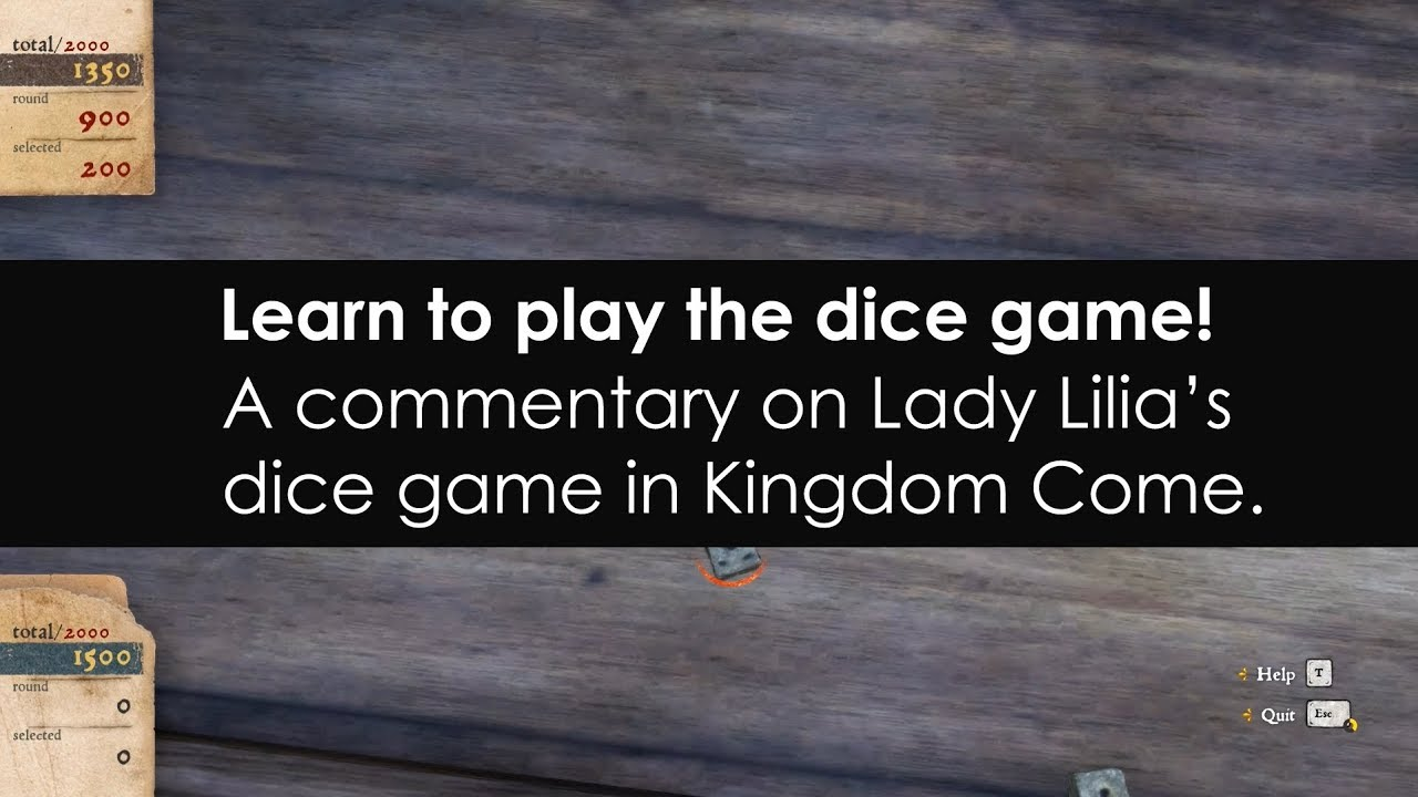 Kingdom Come Deliverance: How to play dice