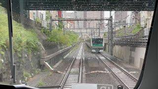 埼京線 大崎~恵比寿 前面展望 相鉄12000系 JR Saikyō Line Ōsaki Station to Ebisu Station (2021.4)