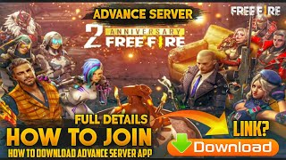 Gambar cover How To Download Free Fire Advance Server   How to Join Free Fire Advance Server With Download link