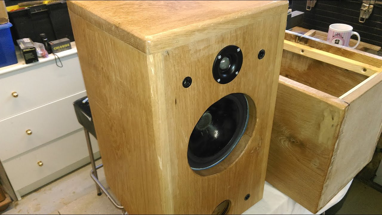 Solid Oak Bass Reflex Speaker Cabinet Crossover Construction You