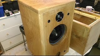 Solid Oak Bass Reflex Speaker Cabinet + Crossover Construction...