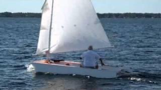 Pdgoose Homebuilt Sailboat Sailing On Lake.