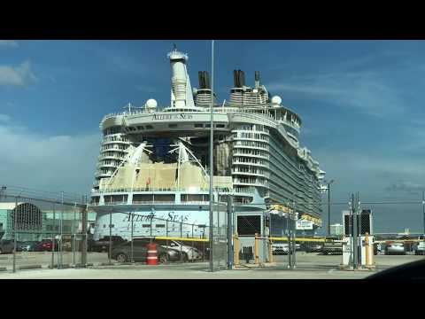Port Everglades Cruise Ships - Sunday December 24th, 2017 4K