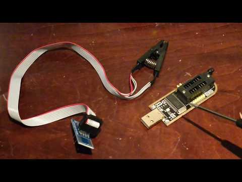How to use a BIOS flasher w/ Test clip to flash BIOS and EEPROM chips in Linux & Windows