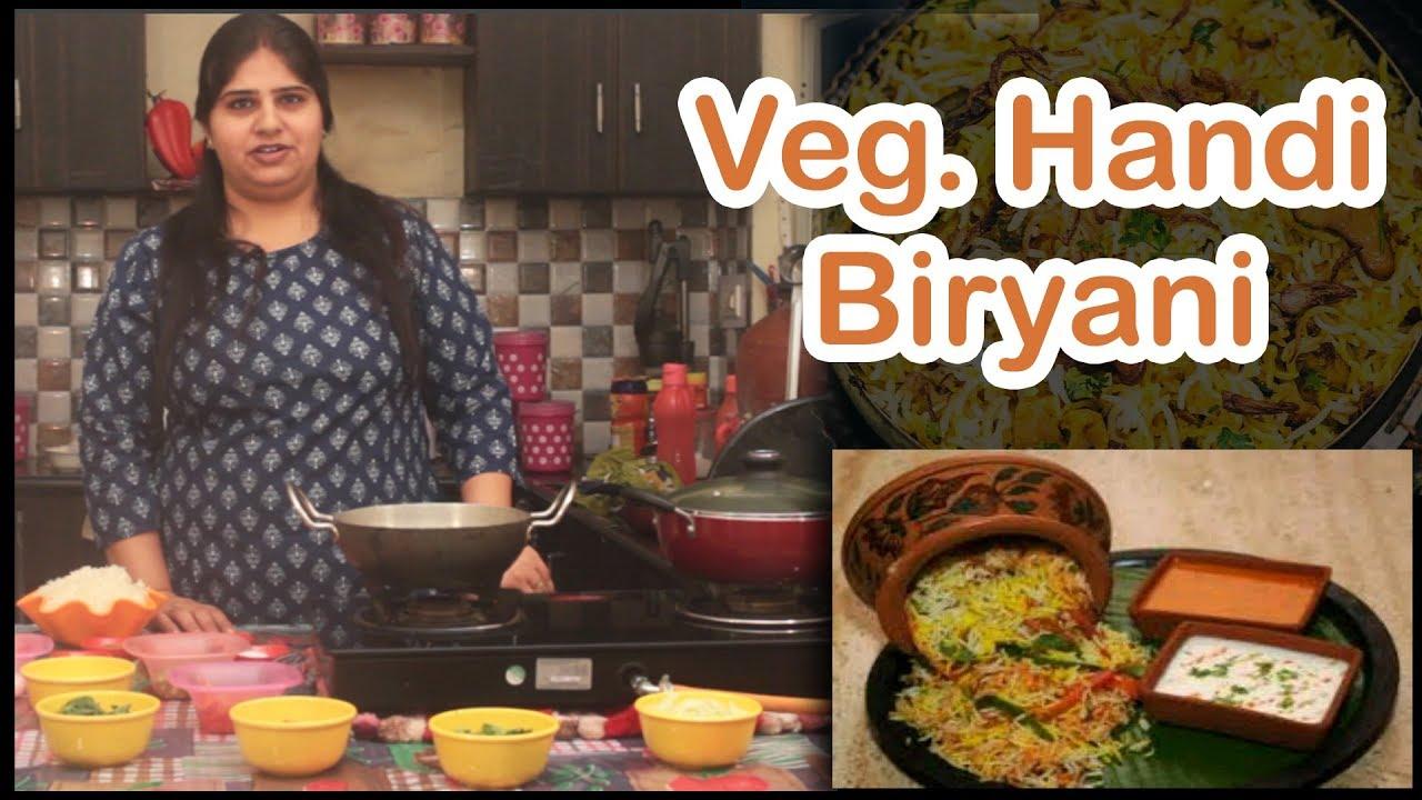 How to make veg handi biryani at home handi biryani at home khushi recipes forumfinder Choice Image