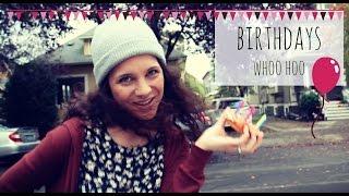 Boba Tea, Donuts, and Birthdays (October Birthday Video) - Isabeau & Jenny