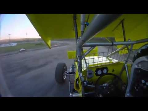 Clay Dow In-Car SCoNE Heat + Feature at Canaan Dirt Speedway 5-18-2012