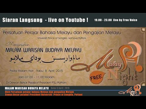 Malay Night 2015   Malam Seni Warisan Budaya Melayu