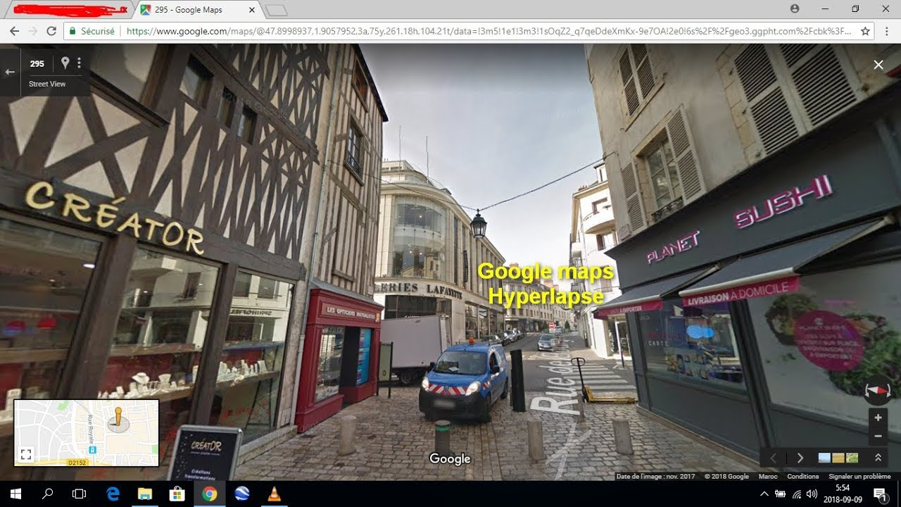 google maps hyperlapse browse street view images