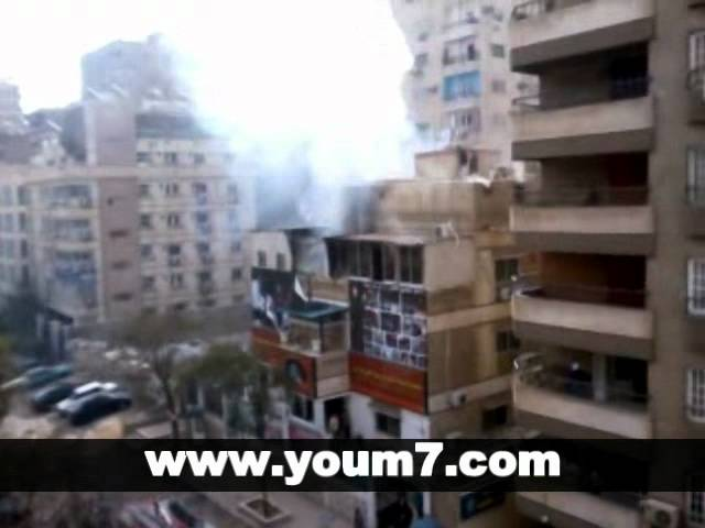 ننفرد بنشر فيديو حريق منزل إبراهيم الفقى اليوم السابع