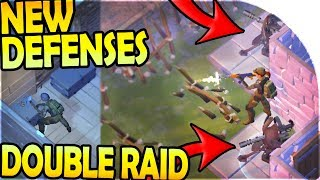 NEW TURRET BASE DEFENSE + UPGRADING - DOUBLE RAID - Last Day On Earth Survival Update 1.8.7