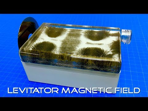 Viewing the Magnetic Fields of a Levitator - Magnetic Levitating Display
