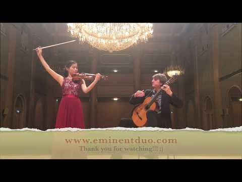 SONATA CONCERTATA for guitar and violin by PAGANINI *Eminent Duo*