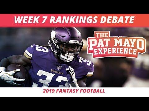 2019 Fantasy Football Week 7 Rankings Breakdown — Start, Sit, Sleepers & Debate