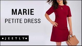 Petite Burgundy shift dress - Marie Burgundy Shift dress by Jeetly