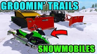 GROOMING SNOWMOBILE TRAILS | SNOW CATS | PISTENNBULLY 300 | FARMING SIMULATOR 2017