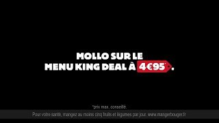Pub BURGER KING Serge le comptable - Menu KING DEAL a 4,95€