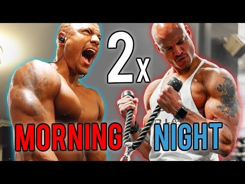 2 Workouts A Day To Build MORE Muscle (Good Or Bad?)