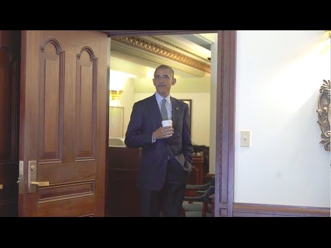 Obama Visits His Old Office In Springfield, IL