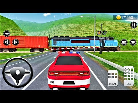 Parking Frenzy 3D Simulator RED POLICE Cars and Trains-Best Android Gameplay HD #57
