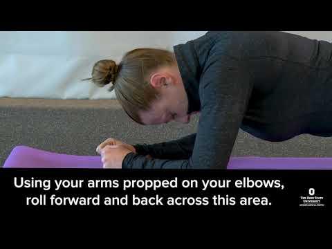 Foam rolling exercises | Ohio State Medical Center