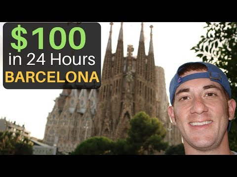 Spending $100 in BARCELONA in 24 Hours?! What Can You Get?