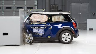 2014 Mini Cooper driver-side small overlap IIHS crash test