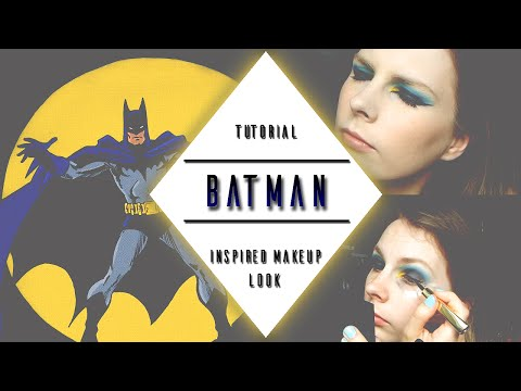 TUTORIAL || Batman [DC Comics] Inspired Makeup Look | kazzified29
