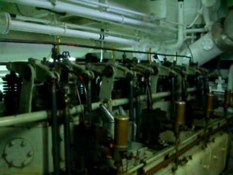 Friedrich Krupp main engines onboard Motoryacht Haida G