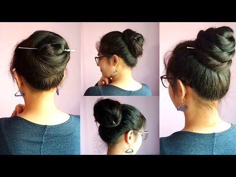 3-easy-&-amazing-juda-hairstyle-with-bun-stick-|-chinese-bun-stick-hairstyle-|-pretty-preksha