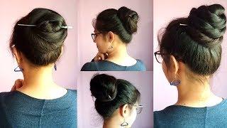 3 Easy & Amazing Juda Hairstyle With Bun Stick | Chinese Bun Stick  Hairstyle | Pretty Preksha