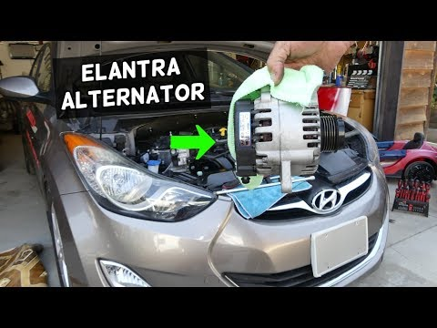 HOW TO REPLACE ALTERNATOR ON HYUNDAI ELANTRA
