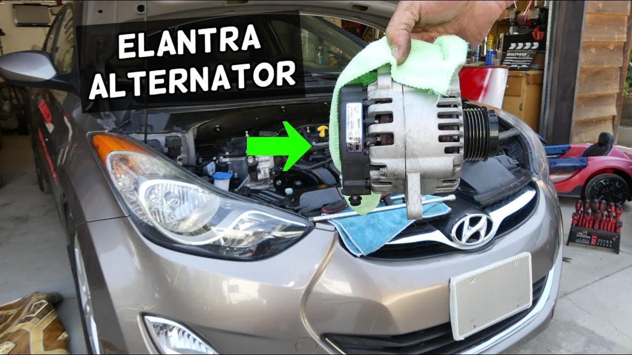 hight resolution of how to replace alternator on hyundai elantra