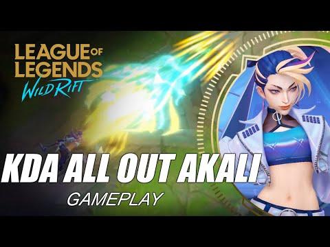 KDA All Out Akali Gameplay - WILD RIFT