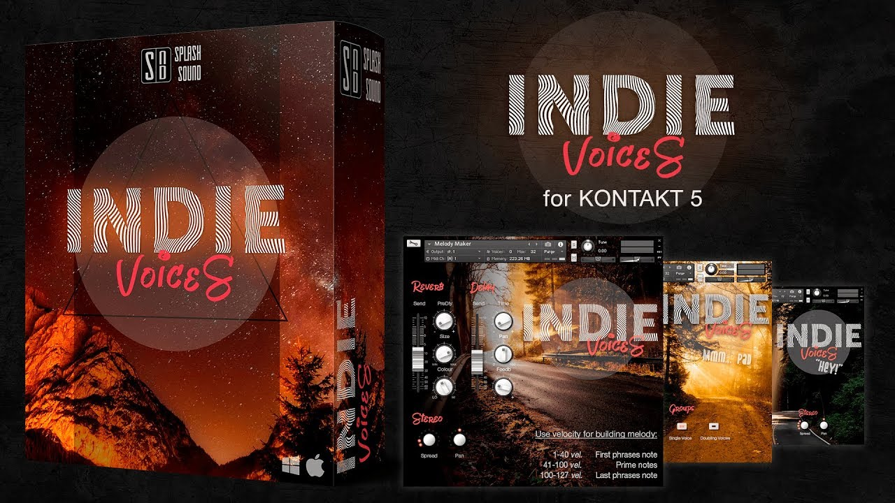 INDIE VOICES | Vocal library for Kontakt