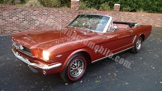 1966 Ford Mustang Convertible, Emberglo, for sale Old Town Automobile in Maryland