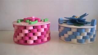 Aprenda Reciclar CD Com Rolinhos de E V A